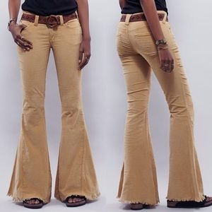 Free People Flare Khaki/Tan Cords